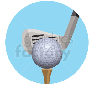 golf club and ball vector clipart clipart. Commercial use image # 409510