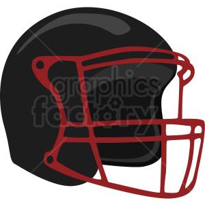 black football helmet vector clipart no background