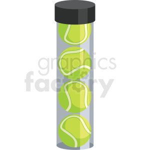 tennis ball tube vector clipart clipart. Royalty-free image # 409545