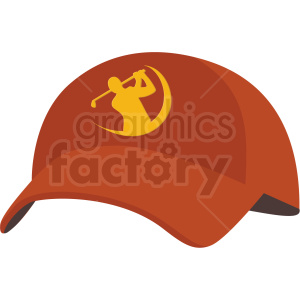 golfing hat vector clipart