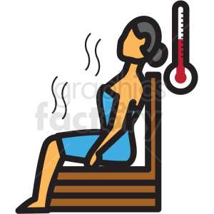 woman in sauna vector icon clipart clipart. Royalty-free image # 409620