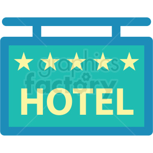 hotel sign icon clipart. Commercial use image # 409696