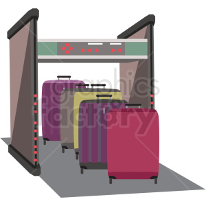 luggae ct scanner airport security clipart. Commercial use image # 409711