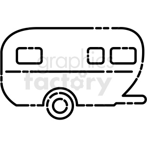 camper trailer icon clipart. Commercial use image # 409712