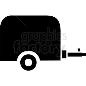 vector small cargo trailer icon clipart clipart. Commercial use image # 409713