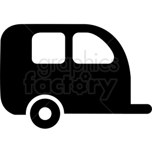 small camper trailer icon clipart. Commercial use image # 409716