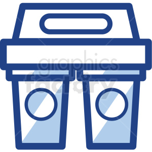 coffee cups in carrier no background vector icons clipart. Royalty-free image # 409722