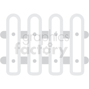 white picket fence clipart. Commercial use image # 409731