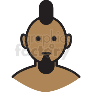 indian guy avatar vector clipart clipart. Royalty-free image # 409748