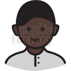 african american boy avatar vector clipart clipart. Royalty-free image # 409762