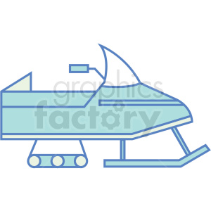 snowmobile icon clipart. Royalty-free image # 409795