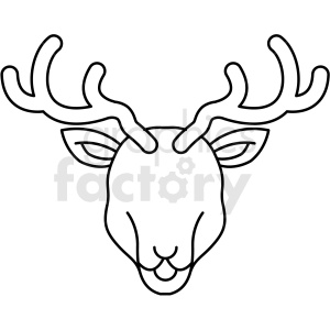 black and white deer icon clipart. Royalty-free image # 409802