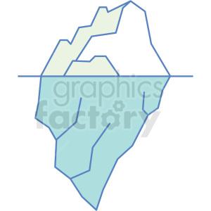 iceberg icon clipart. Royalty-free image # 409812