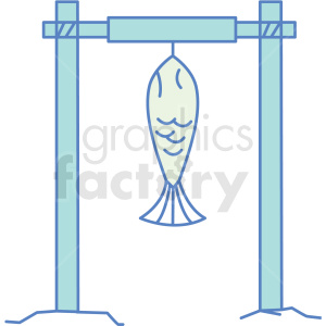 fish hanging on rod icon clipart. Commercial use image # 409827