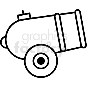 black and white circus cannon icon clipart. Commercial use image # 409922