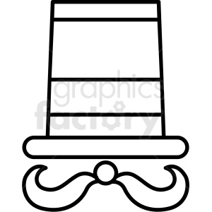 black and white circus host icon clipart. Royalty-free image # 409942