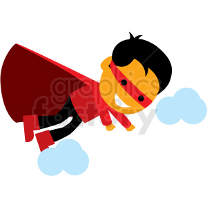 cartoon hero flying vector clipart clipart. Commercial use image # 409950