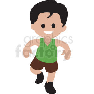 cartoon boy dancing clipart. Royalty-free image # 409968