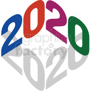 2020 clipart clipart. Royalty-free image # 410041