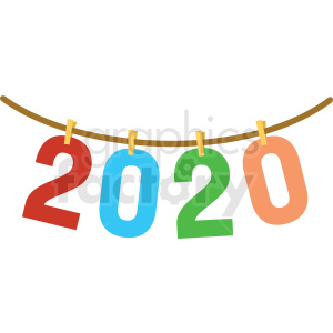 2020 banner new year clipart clipart. Commercial use image # 410050