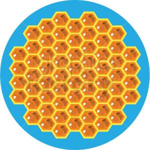 cartoon honeycomb vector clipart blue background