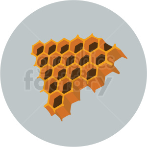 honeycomb piece vector clipart gray background clipart. Royalty-free image # 410063