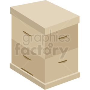 closed beehive box vector no background clipart. Royalty-free image # 410068