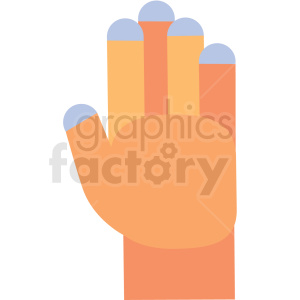 cartoon hand vector icon