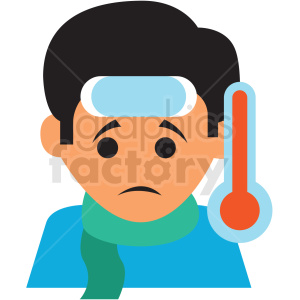 sick child vector icon clipart. Royalty-free image # 410111