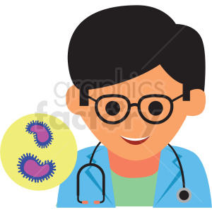 young doctor cartoon vector icon clipart. Royalty-free image # 410125