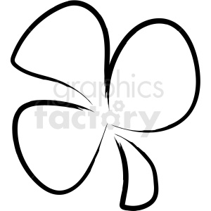 clover drawing vector icon clipart. Royalty-free image # 410194