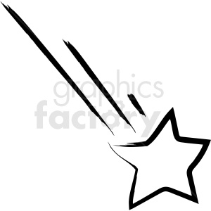 shooting star drawing vector icon