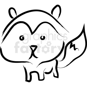 cartoon racoon drawing vector icon