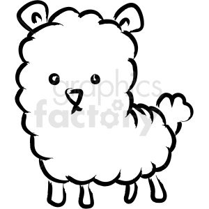 cartoon lamb drawing vector icon clipart. Commercial use icon # 410254