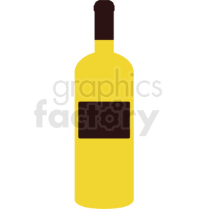 yellow wine bottle vector no background clipart. Commercial use image # 410318