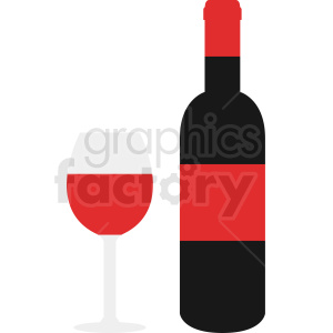 wine bottle vector icon clipart clipart. Commercial use image # 410336