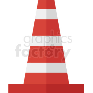 construction zone cone vector clipart. Royalty-free image # 410351