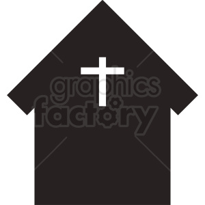 church building vector black white clipart. Royalty-free image # 410390