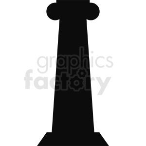 greek column vector slihouette