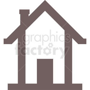 house outline vector clipart clipart. Commercial use image # 410410