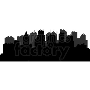 city skyline vector clipart clipart. Commercial use image # 410416