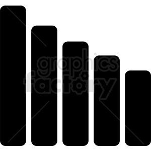 bar graph vector design clipart. Commercial use image # 410463