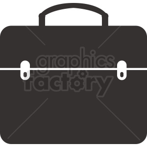 vector briefcase image black white clipart. Royalty-free image # 410511