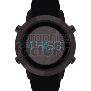 scuba watch vector clipart clipart. Commercial use image # 410590