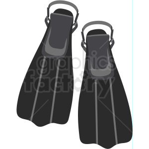 scuba flippers vector clipart clipart. Royalty-free icon # 410593