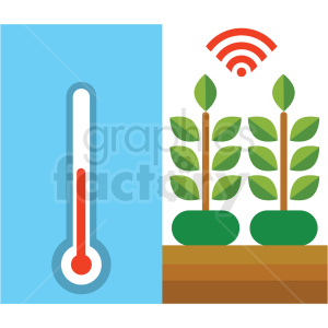 agriculture climate control system vector icon clipart. Royalty-free image # 410625
