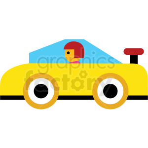 cartoon sports car vector icon clipart. Royalty-free image # 410673