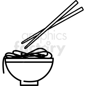 bowl of noodles vector icon clipart. Commercial use image # 410683