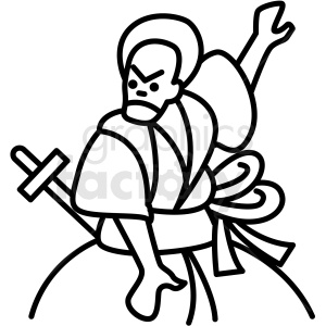 japanese samurai vector icon clipart. Commercial use image # 410690