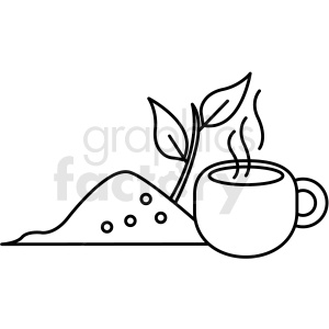 japanese tea vector icon clipart. Commercial use image # 410700